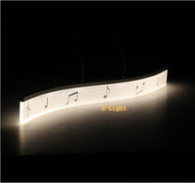 musical note 19W Newest Design Modern LED Pendant Lights for Dining Room White Acrylic LED Pendant Lamp Contemporary