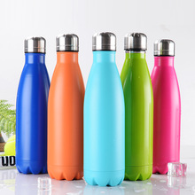bpa free Insulate 500ml coffee bottle vacuum kettle double wall stainless steel Bottle lid kettle sport VACUUM FLASK(China)