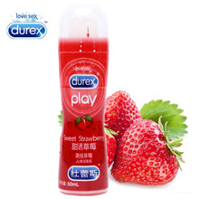 Durex Lubricant Strawberry 50ml Sexuales Anal Analgesic Oral Gel Water Base Oil Strong Sex Lube for Couple Adult Masturbation(China)
