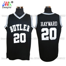 2017 Cheap Mens Butler Bulldogs #20 Gordon Hayward Jersey Black College Vintage Throwback Basketball Jersey Free Shipping Top(China)