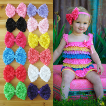 "Wholesale 4.7"" super Big size Chiffon Rosette Bows Girls Flowers Hairbows without clip Hair Accessory 36pcs/lot(China)"