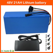 48V 13S Ebike Battery 1000W 48V 21AH Electric Bike Battery 48V Lithium Battery Use Samsung 3000mAh Cell with 30A BMS 2A Charger(China)