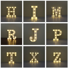 Wood Wireless Wall Lamp 3D Led Letter Light Battery Operated Night Light Box Letters Desk Decor For Room Wedding Birthday Party