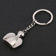 10PCS Zinc Alloy Lovely Angel Key Ring Chain Holder Creative Dolls Keychains Car Keyfobs Charm Bag Pendant Jewelry Gift J030