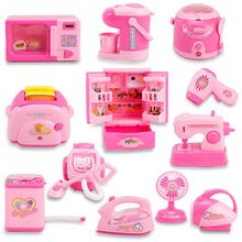 Pink miniaturas miniature dollhouse furniture weaving loom supermarket toy Every family of mini electrical series