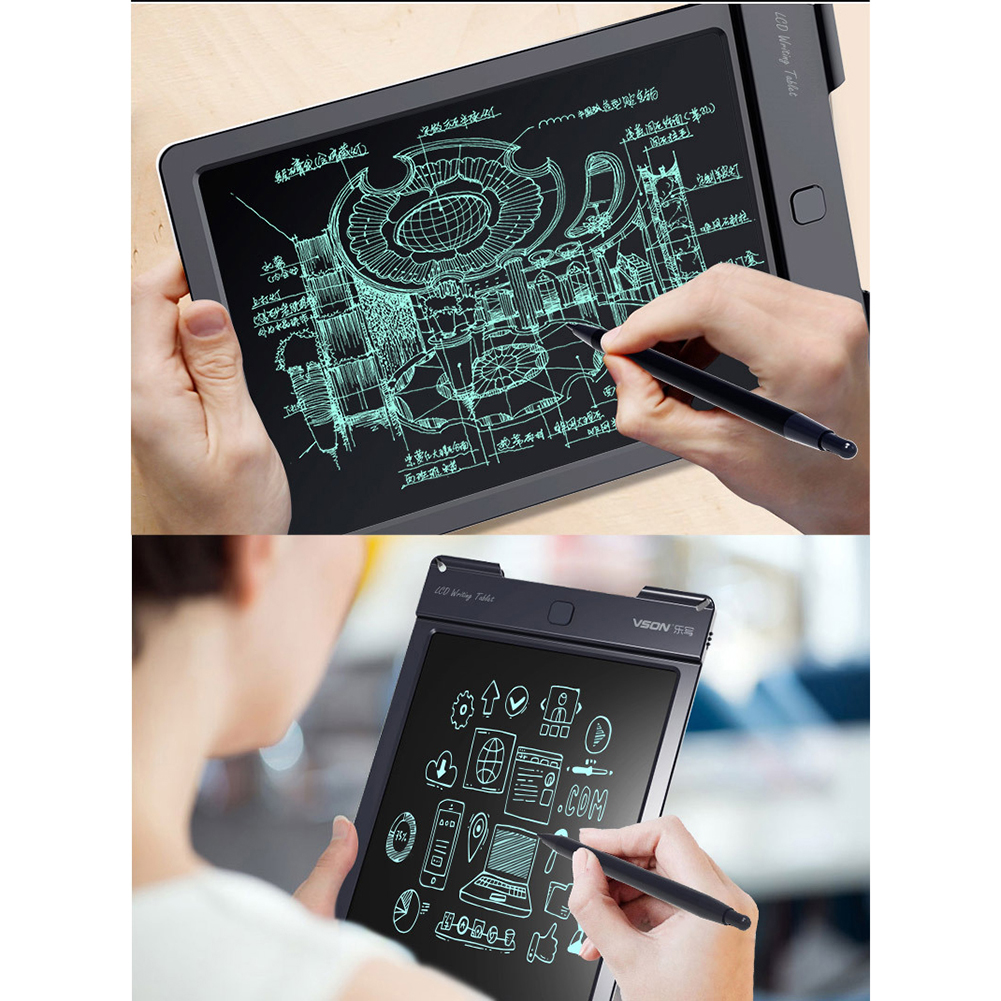 Early Education Writing Board,Office Memo,Blue Covan/_CN 12Inch LCD Tablet,Childrens Drawing Graffiti,Light Energy Electronic Small Blackboard,Smart Drawing Board