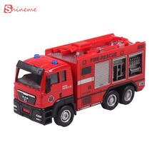 Children's educational toys diecasts & toy vehicles 1:55 nine style sliding alloy car truck model children toys fire engine(China)