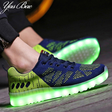 Cheap Brand Men Luxury Luminous Basket Glow bambas tenis Led Trainer Neon Shoe with Light up for Adult Male Feminino femme