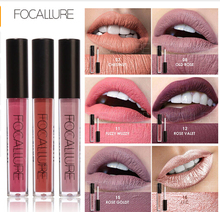 Focallure 24 Colors Metal Elegant Lipstick Smooth Lip Stick Long Lasting Charming Lip Lipstick Cosmetic Beauty Makeup Lip Gloss(China)