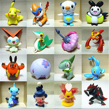 48 Pcs/lot  Hot Pikachu Action Figures Toys Cartoon Anime Mixed Gifts For Children