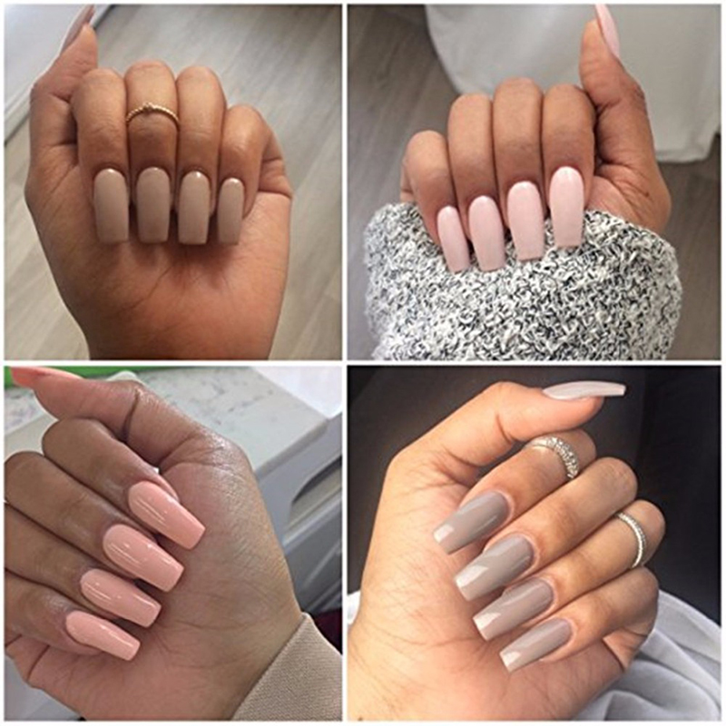 Wholesale /Box New Ballerina Nail Tips Full Nails Coffin Shape ...