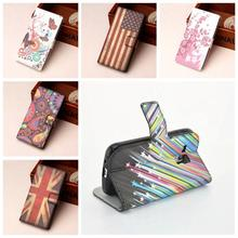 Fashion wallet cases for Samsung Galaxy Trend Plus S7580 S7582 GT-S7580 GT-S7582 Smart Phone Bag FLower leather FLIP cases cover