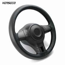 VENSECO universal steering cover carbon fibre sewing steering wheel cover braided steering wheel DIY steering-wheel fit for 38cm