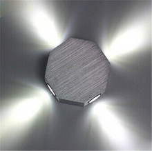 Modern 4W LED Wall Lamp With LED Driver AC85-265V Aluminum Octagonal Shape Wall Light Energy Saving for Studios Exhibit
