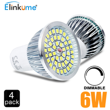 4 pcs GU10 Dimmable LED Bulb 6W AC220V led light bulb lamp 48 SMD 2835  Heat-resistant aluminum LED Spot Light Bulbs