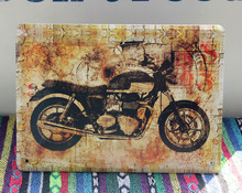 Classical Old MOTO Vintage Metal tin signs Motorcycle Retro plate iron plaque painting home decor wall art coffee bar 15*20cm