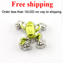 Free shipping floating charms frog,new arrive floating locket charms(China)