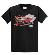 Summer Fashion Casual Plus Size 100% Cotton High Quality Tops Tees  Ford T-Shirt Mach 1 Mustang Burnout
