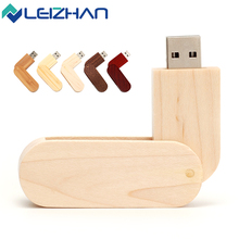 LEIZHAN Wooden 2.0 USB Flash Drive 64G Pendrive 32G Memory Pen Drive 16G Logo Customized Disk 8G Storage External Device 4G Disk