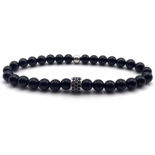 Buy 2018 Fashion women wen charm Bracelet 6mm Natural Matte & smooth Stones Beads Pave CZ column Bracelets Men Jewelry Gift for $1.49 in AliExpress store