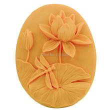 DIY Lotus Flower Silicone Moulds Handmade Soap Mold Sugar Craft Fondant Cake Decorating Tools 9*7.4*3.2CM(China)