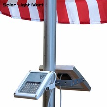 Mini Alpha 180X 35 LED 5m Cable Automatic Waterproof Solar LED Flag Pole Flood Light 3 Power Modes for Outdoor Use