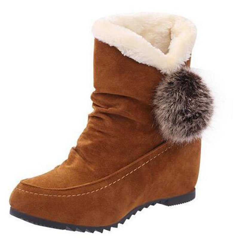 2017 New Winter Women Casual Boots Snow Boots For Lady With Fur In Warm Shoes Wool Boots Warm Boots For Lady  .DFGD-206<br><br>Aliexpress