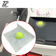ZD Car Styling Tennis Hits Car Window Sticker For VW polo passat b5 b6 Mazda 3 6 cx-5 Toyota corolla Ford focus 2 accessories(China)