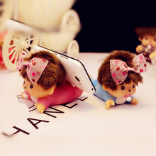 1PCS New Car Styling MONCHHICHI Baby Dolls Cell Phone Holder 2 Colors Dashboard 3D Car Decoration Toy for Car Car Ornaments Doll(China)