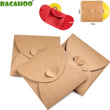 RACAHOO CD Case 10PCS/lot CD Packaging Paper Bag DVD Wedding for Photography Bag Can Accommodate 3 Discs