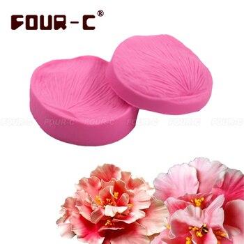 Rose petal cake mold veiner silicone veiner mould cake design flower form silicone fondant cake DIY tools mold free shipping