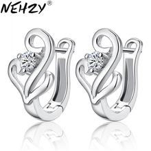 NEHZY Silver Hong Kong high-end brand earrings female models fashion cute vintage jewelry manufacturers, wholesale jewelry(China)