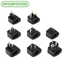 NTONPOWER 8Pcs Worldwide Travel Universal Plug Adapter All in One International Electrical Socket for IT/EU/JP/AU/BR/IN/IS/UK(China)