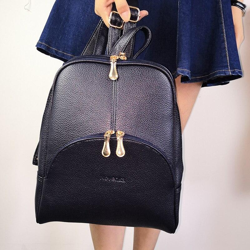 Nevenka Women Backpack Leather Backpacks Softback Bags Brand Name Bag Preppy Style Bag Casual Backpacks Teenagers Backpack Sac03