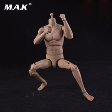 1/6 Scale Slim Version Athletic Muscular Male Bodies Skin Color for 1/6 Scale Mens Head Gifts Toys Collections Models(China)