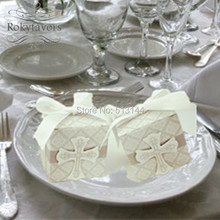 20PCS Cross Favor Boxes Wedding Favors Holders with Ribbons Great Party Supplies Ideas Baby Shower Favors