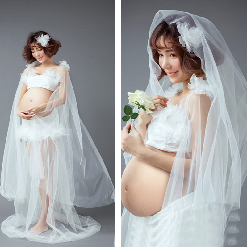 Retail Free shipping Royal Maternity White Dress Pregnant Photography Props woman Pregnancy maternity photo shooting long dress<br><br>Aliexpress
