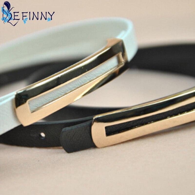 EFINNY Womens Metal Eyelet Buckle PU Leather Casual Belt