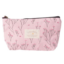 Simple Flower Storage Bags Fresh Women Makeup Cosmetic Bag Beauty Case Make Up Organizer Toiletry Bag Storage Travel 21cmx12cm