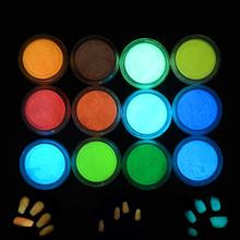 1 Box Nail art Fluorescent Powder Nail Body Party Phosphor Coating Luminous Brightly Noctilucent Dust Pigment DIY Tool SAYS01-12