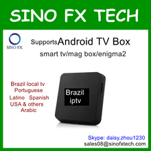 Hot sale Brazil product Android tv box ip tv package 350+ channels freetest