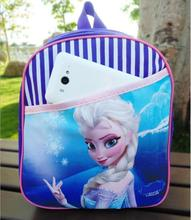New adventure snow queen Elsa princess School Bag Girls backpack Kids christmas Gift(China)