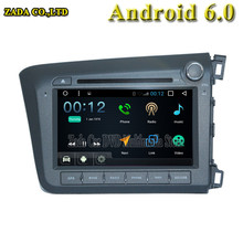 NAVITOPIA 8 inch 1024*600 Quad Core 16G Android 6.0 Car DVD multimedia for Handa CIVIC 2012 right With GPS Map wifi Radio Audio