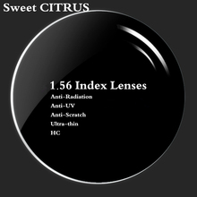 Buy Sweet CITRUS 1.56 Index Myopia Reading Spherical Resin Prescription Lens HMC EMI Anti-scratch & Anti-Reflective HC Optical lens for $8.99 in AliExpress store