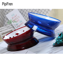 PipiFren Small Dogs Bowl Feeder Tilt For Cats Food Bowl Pet Feeder Water Snacks Dish French Bulldog gamelle chat cuccia cane(China)