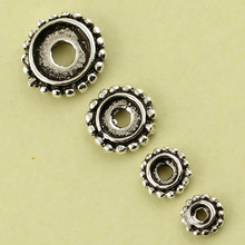 New Arrive Tibetan Silver Spacer Beads  Silver End Beads Geal Spacer for Crafts Jewelery Making Beads 10 pcs/lot