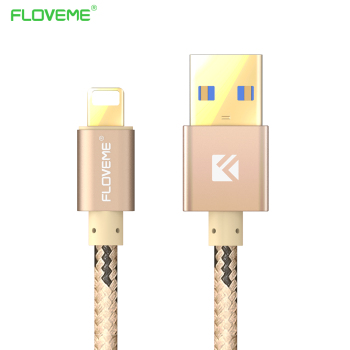 Floveme 1.2 m 2.1a/5 v usb tipo c & micro usb para android & usb para o dispositivo da apple cabo de carregamento rápido para apple iphone 7 plus SE