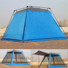COOLWALK Outdoor Summer Tent Anti-Mosquito Mat Breathable Windproof Rainproof Roomy Family Tents Party Fishing Beach Tent(China)