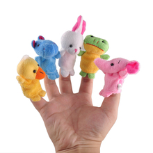 10Pcs/Lot Mini Finger Puppets Baby Kids Plush Stuffed Toys Educational Cartoon Biological Animal Plush Dolls Christmas Gift Toy