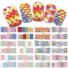 12 Designs/Set Beauty Winter Sweater Design Nail Art Sticker Decals Nails Decorations DIY Tattoos Manicure Tools SABN517-528(China)